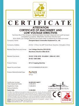 CE-certifikat för lockmaskin