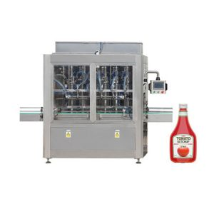 Klistra in fyllningsmaskin för tomatpuré, kosmetisk kräm