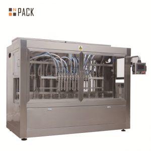 Automatisk 8 fyllningsmunstycken vätska / pasta / sås / honungfyllningsmaskin