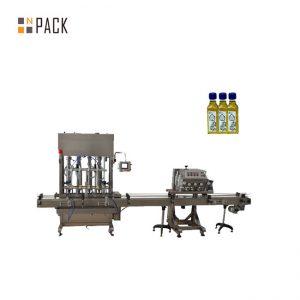Automatisk 2 munstycksgel nagellack påfyllningsmaskin flaskan fyllning kapning maskin