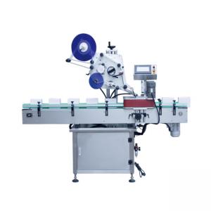Vertikal typ automatisk rund behållare märkning maskin